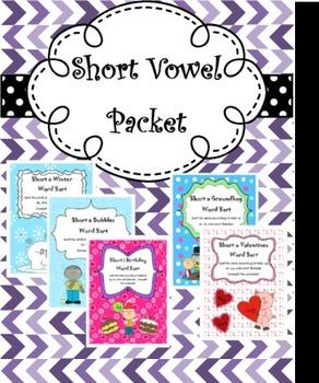 Short Vowel Game Packet CVC
