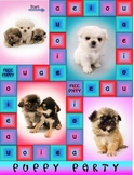Short Vowel Game Puppy Party Sampling of Reading Board Games