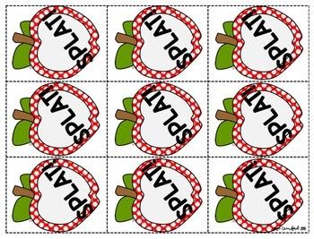 Short Vowels Game - Short O Apple SPLAT