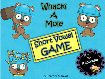 Short Vowel Game Whack a Mole