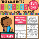 Level 1 Unit 2 Short Vowel Games and Printables