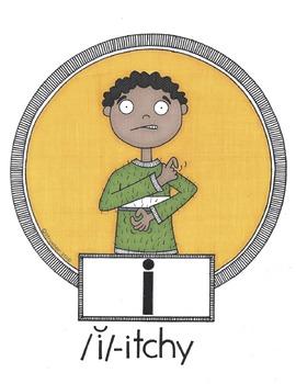 Short Vowel Gesture Cards