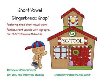 Short Vowel Gingerbread SNAP