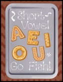 Short Vowel Go Fish Set (a, e, i, o, u) - Literacy Center Game