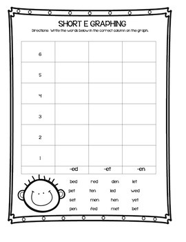 Short Vowel Graphing Activities