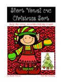 Short Vowel Holiday Trees {CVC}
