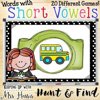 Short Vowel Hunt and Find Bundle