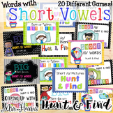 Short Vowel Hunt and Find Bundle