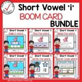 Digital Short Vowel I CVC Boom Cards℠ Bundle
