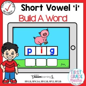 Boom Cards Short I CVC Build A Word