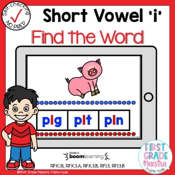 Boom Cards Short I CVC Find the Word