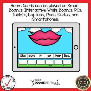 Boom Cards Short I CVC Sentence Scrambles