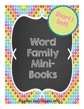 Word Family Mini-Books: Short I Set