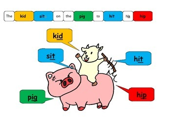 Short Vowel I, Rhyming words, Game Board Activity