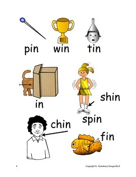 Short Vowel I Word Families Homework