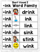 Short Vowel I Word Work {-ink Word Family}