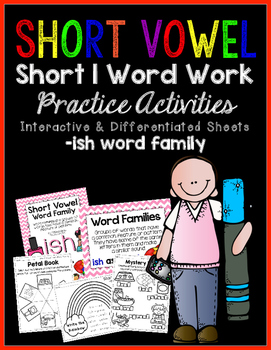 Short Vowel I Word Work {-ish Word Family}