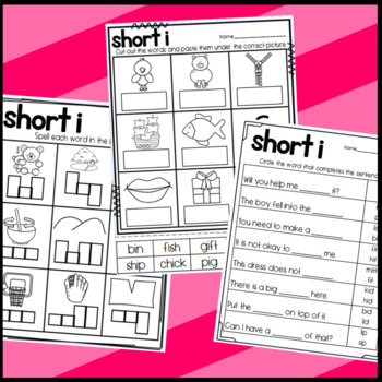 Short Vowel I Worksheets: Sorts, Cloze, Read and Draw, and More