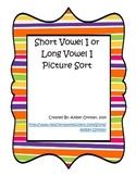 Short Vowel I or Long Vowel I Picture Sort