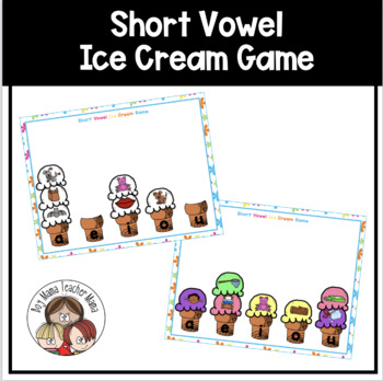Short Vowel Ice Cream Scoop Game