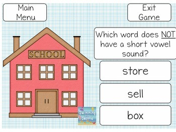 Short Vowel Interactive Game Freebie