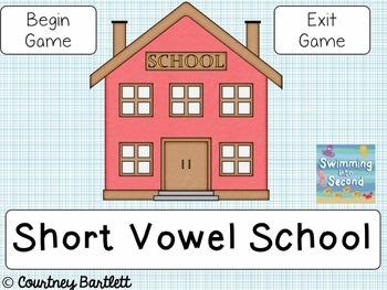 Short Vowel Interactive Game Freebie