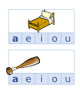 Short Vowel Literacy Activity