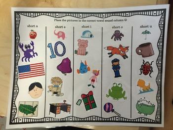 Short Vowel Literacy Centers