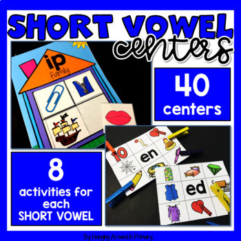 Short Vowel Literacy Centers BUNDLE