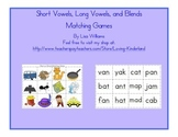 Short Vowel, Long Vowel, Blends, and Digraph Word Matching Games
