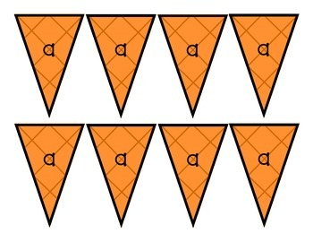 Short Vowel/ Long Vowel Literacy Activity: Ice Cream Scoops