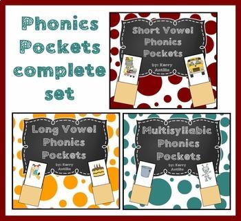 Short Vowel, Long Vowel and Multisyllabic Phonics Pockets