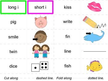 Short Vowel, Long Vowel - sorting cards