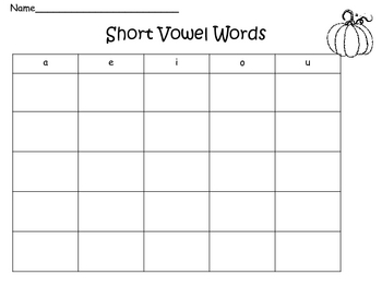 Short Vowel Making Words