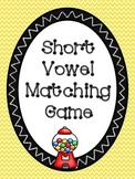 Short Vowel Matching Picture Cards