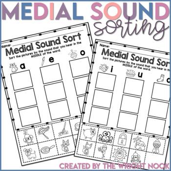 Short Vowel Medial Sound Sort Activity