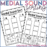 Short Vowel Medial Sound Sort Activity Distance Learning