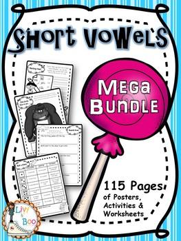 Short Vowel Mega Bundle - Phonics Activities - 115 Pages!