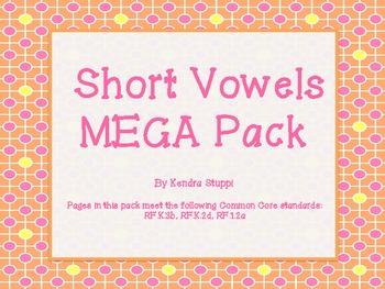 Short Vowel Mega Pack! 6 sets