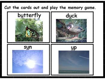 Short Vowel Memory Game