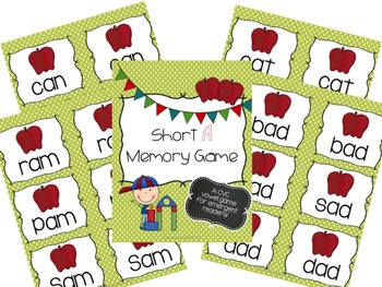 Short Vowel Memory Game Bundle