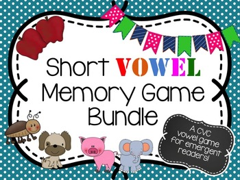 Short Vowel Memory Game Bundle
