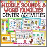 Short Vowel Middle Sounds Center Activities
