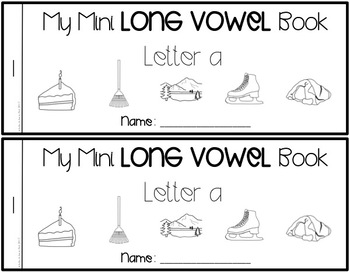 Short Vowel Mini Printing Books