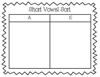 Short Vowel Mini Unit