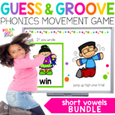 Short Vowel Movement Games for Google (TM) & PowerPoint   Distance Learning