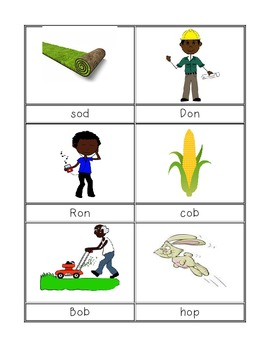 Short Vowel O Activity Cards