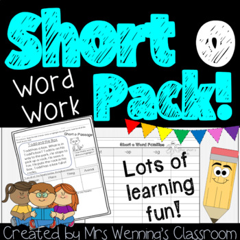 Short Vowel O - A Full Week of Lesson Plans, Activities, and Word Work!