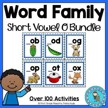 Short Vowel O Word Family Worksheets MEGA Bundle