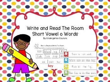Short Vowel O Write and Read The Room